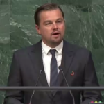 At the signing ceremony of the Paris Agreement, Leonardo DiCaprio gave a speech. Source: UN