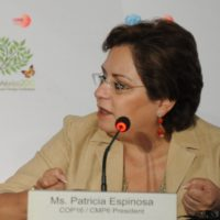 Patricia Espinosa at COP16 in Cancún 2010. Source: UNFCCC