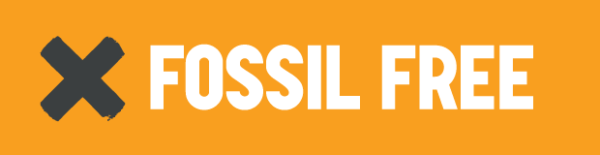 Fossil Free logo. Source: Fossil Free